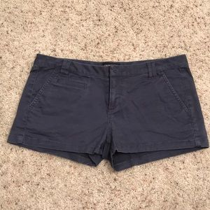 Express Navy Low Rise Twill Shorts